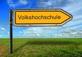 Strassenschild 17 - Volkshochschule