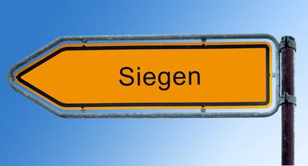 Strassenschild 7 - Siegen