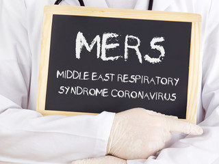 Doctor shows information: MERS