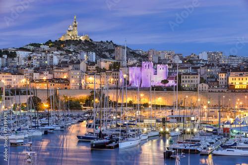 Foto op Canvas Stad aan het water Marseille - Le Vieux Port