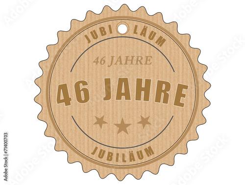 Foto op Plexiglas Retro je46 JubiläumsEtikett 46 - vintagedesign - 46 Jahre - g1946