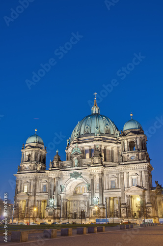 canvas print picture Berliner Dom (Berlin Cathedral) in Berlin, Germany