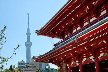 東京スカイツリーと浅草寺
