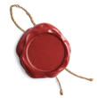 Red blank wax seal or stamp