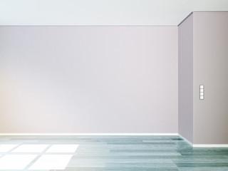 Freie Wand in leer Wohnung