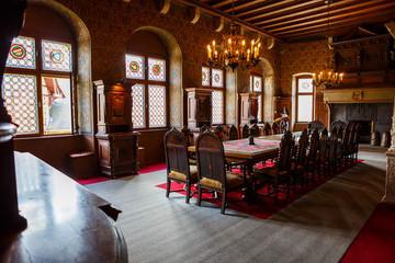 Mittelalterliches Speisezimmer im Schloss
