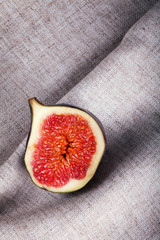 figs on folded fabric