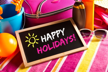 Happy summer holidays card