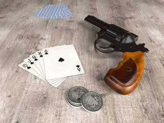 Royal Flush and gun