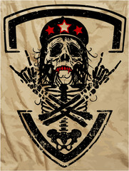 Skull and crossbones  T-shirt graphics