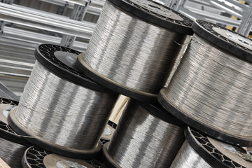 close up steel wire coil