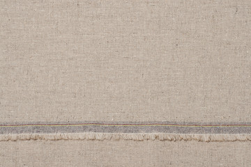 Natural Linen Fabric With Rough Edge