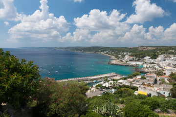 Panorama di Castro, in Puglia