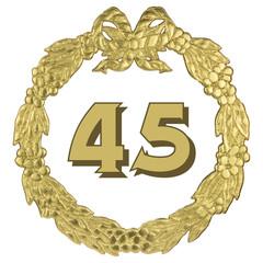 goldener Jubiläumskranz - 45