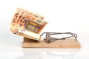 Mausefalle mit Bargeld