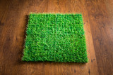 Artificial turf tile poster
