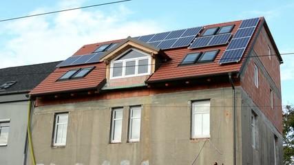 renovated modern house - solar panels