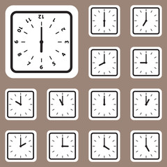 Vector Illustration, Clock Icon for Creative and Design Work