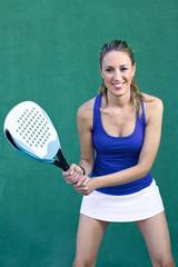 sportswoman, woman playing paddle