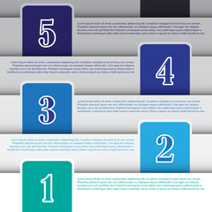 Vector infographic banner for creative work