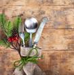 canvas print picture - weihnachtliches Festessen