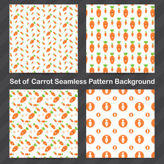 Carrot Seamless pattern background