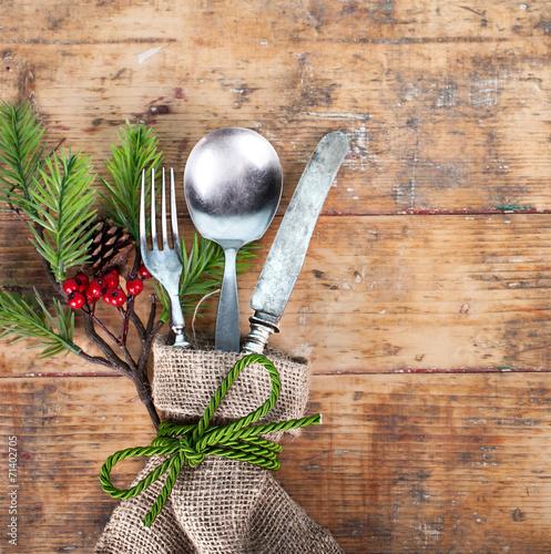 canvas print picture weihnachtliches Festessen