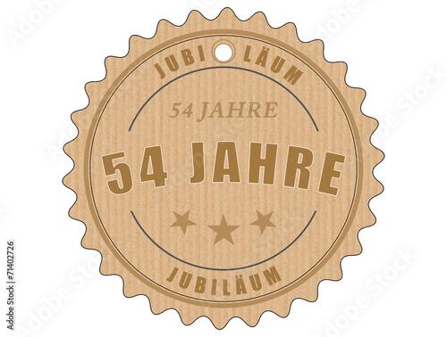 Deurstickers Retro je54 JubiläumsEtikett 54 - vintagedesign - 54 Jahre - g1954