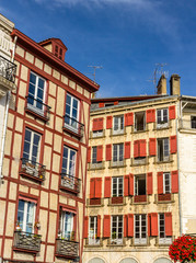 Traditional houses in Bayonne old town - France, Aquitaine