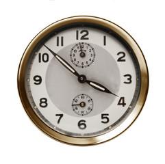 orologio vintage fondo bianco