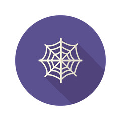 Halloween Spiderweb Flat Icon