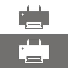 Icono impresora BN