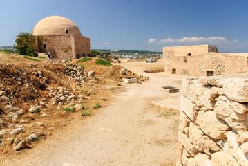 Citadel and mosque, Rethymno Fortezza, Crete, Greece