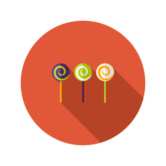 Halloween Spiral Sweets Flat Icon