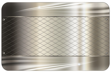 Business card template.Metal abstract background.