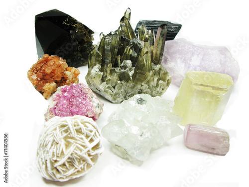 Papiers peints Pierre precieuse amethyst quartz geode geological crystals