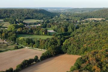 Vallée de la Renarde, Souzy-la-Briche vue du ciel