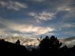 canvas print picture - Himmel mit Wolken am Abend