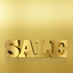 "Bright and eye-catching words ""Sale"" of metal letters."