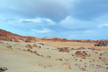 Volcanic landscape on Teide, Tenerife, Canary Islands, Spain