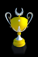 Winner cup, isolated on black background