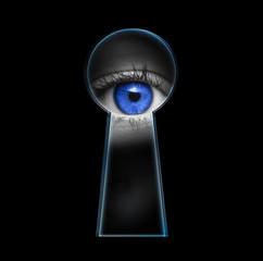 Auge im Schlüsselloch