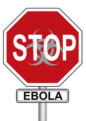 Stopschild Ebola