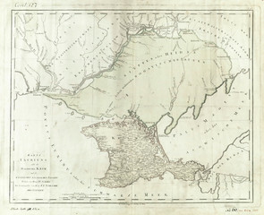 Black Sea and Crimea vintage map