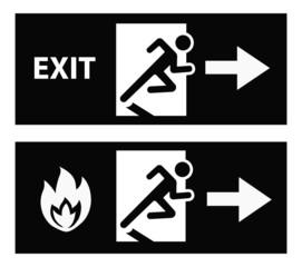Emergency fire exit door