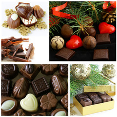 Set of assorted chocolate candy gift for Christmas