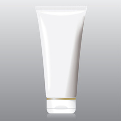 Squirt bottle of creme, gel, ointment, cosmetics