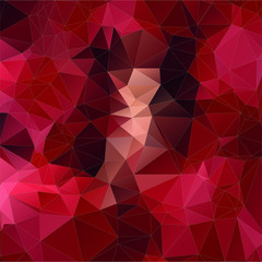 Abstract red square triangle background