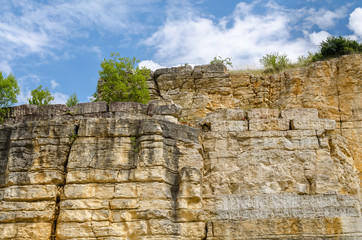 Felswand mit Bäumen