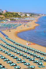 view of the beach of Termoli, Molise, Italy